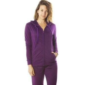 Pants - Purple Hoodie Jacket and Pants Set